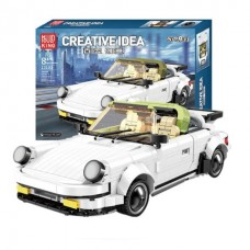 Mould King 13103 911 Targa White Classic Sport Car (MOC) 882 Pcs Building Blocks Set *FREE SHIPPING*