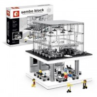 SEMBO SD 6900 Apple Store with light and USB 1116 pcs Building Block Set *FREE SHIPPING*