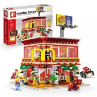SEMBO SD 6901 4 in 1 McDonald with light and USB 1729 pcs Building Block Set *FREE SHIPPING*