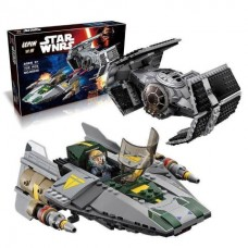 King/Lepin 05030 Vader's TIE Advanced vs. A-Wing Starfighter (retired) 722 pieces*FREE SHIPPING*