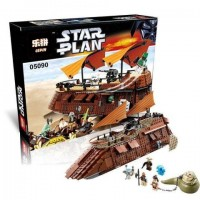 King/Lepin 05090 The Jabba's Sail Barge (retired) Star Wars 821 pieces*FREE SHIPPING*