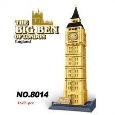 WANGE 8014 Big Ben Of London (MOC) 1642 pcs Building Blocks Set *FREE Shipping*