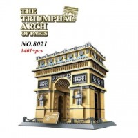WANGE 8021 Arc de Triomphe Of Paris (MOC) 1401 pcs Building Blocks Set *FREE Shipping*