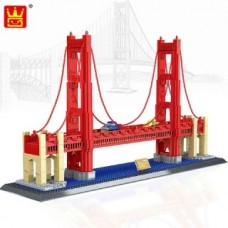 WANGE 8023 Golden Gate Bridge USA (MOC) 1977 pcs Building Blocks Set *FREE Shipping*