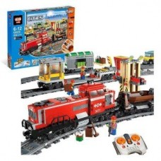 King/Lepin 02039 Red Cargo Train (Retired) 781 pieces building block set*FREE SHIPPING*