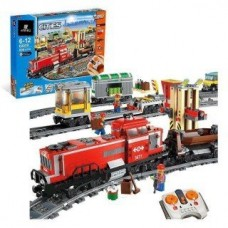 King/Lepin 02039 Red Cargo Train (Retired 3677) 781 pcs Building Block Set*FREE SHIPPING*