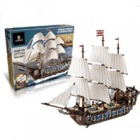 King/Lepin 22001 PIRATES IMPERIAL FLAGSHIP (10210) 1717 pcs Building Block Set *FREE SHIPPING*