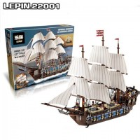 King/Lepin 22001 PIRATES IMPERIAL FLAGSHIP 1717pcs building block set *FREE SHIPPING*