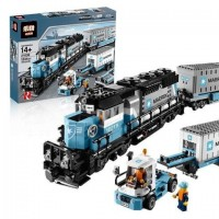 King/Lepin 21006 Maersk Container Train (Retired 10219) 1237 pcs Building Block Set *FREE SHIPPING*